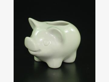 Zahnstocherschwein weiß Porzellan