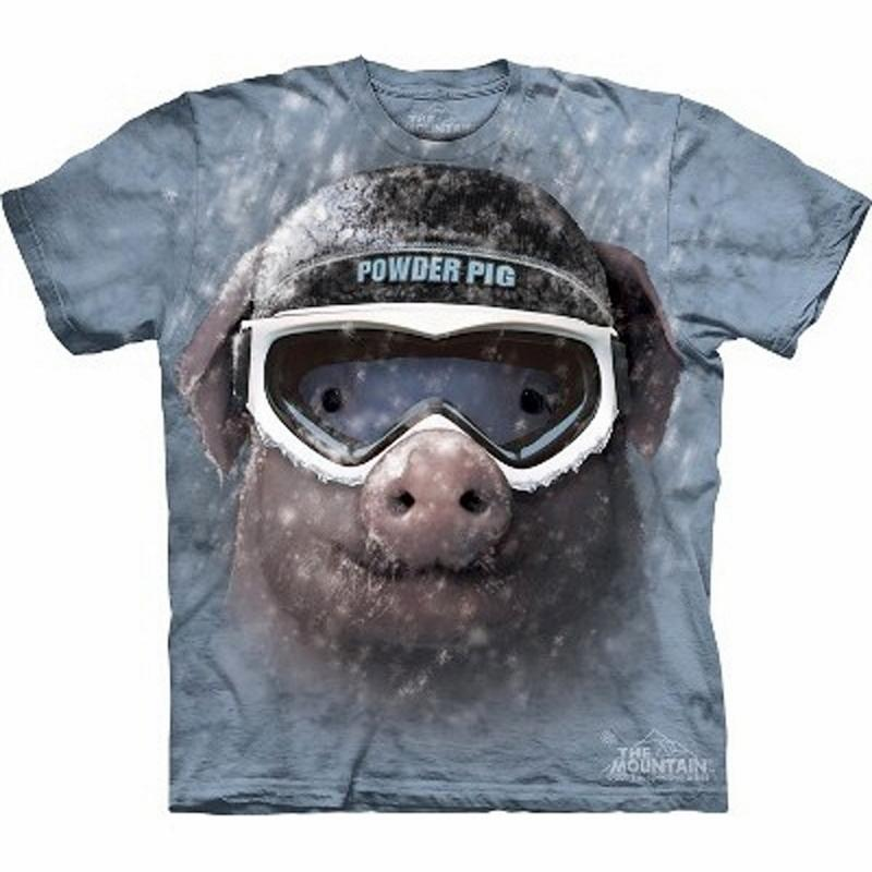 T-Shirt Powder Pig . unisex. Gr. S-3XL . MT8303.The Mountain