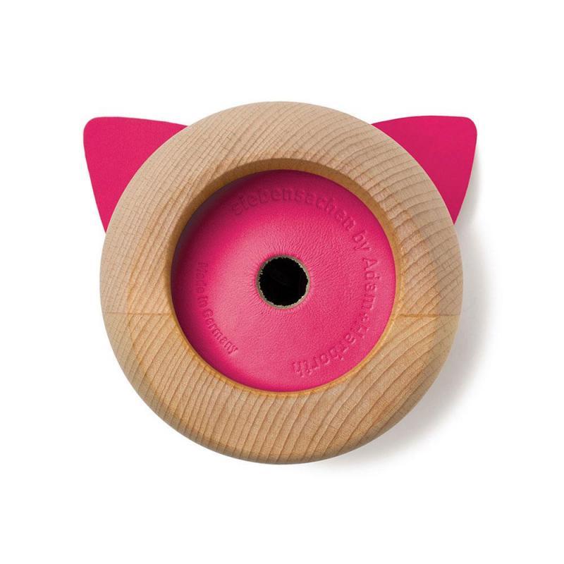 Pink Lady Sonderedition MISS MONNIPENNI Sparschwein Spardose Holz/Leder-pink