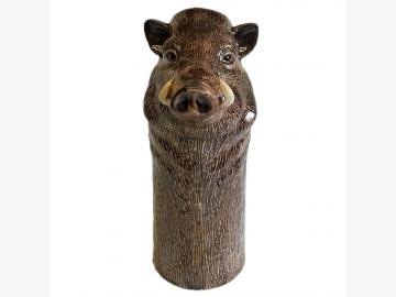 Blumen-Vase Wildschwein feine Keramik Quail GB