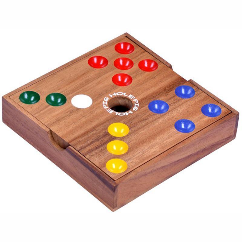 Pig Hole Schweinchen Brettspiel aus Holz Würfelspiel