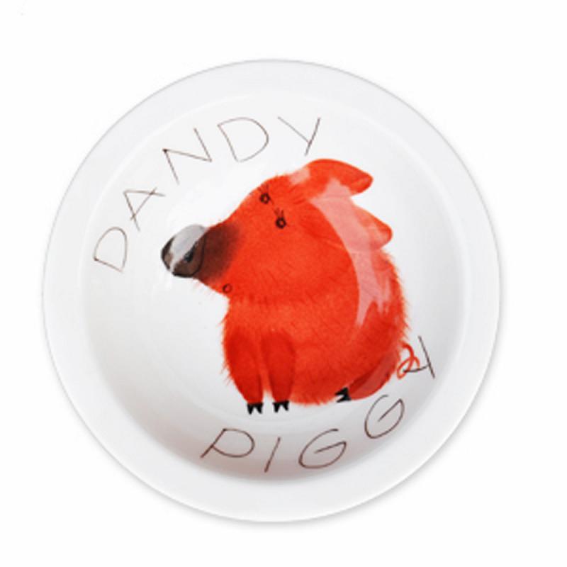 Dandy Piggy Müsli-Schale Schwein Porzellan handbemalt