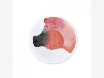 Dandy Piggy Teller Untertasse 11cm Schwein Porzellan handbemalt