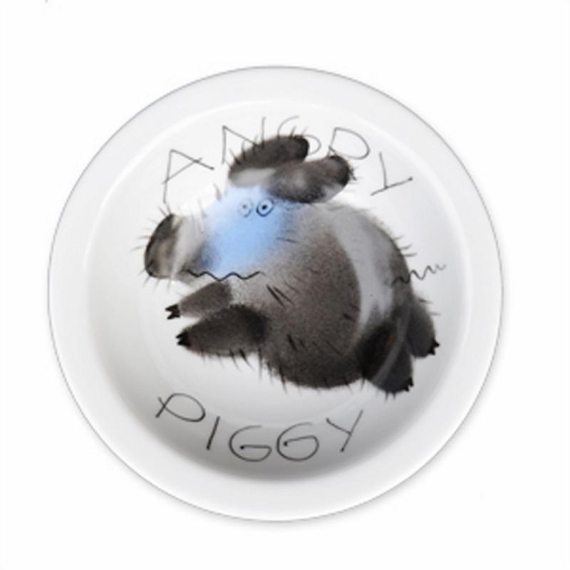 Angry Piggy Müsli-Schale 16cm Schwein Porzellan handbemalt