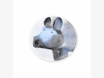 Angry Piggy Teller Schwein 11 cm Porzellan handbemalt