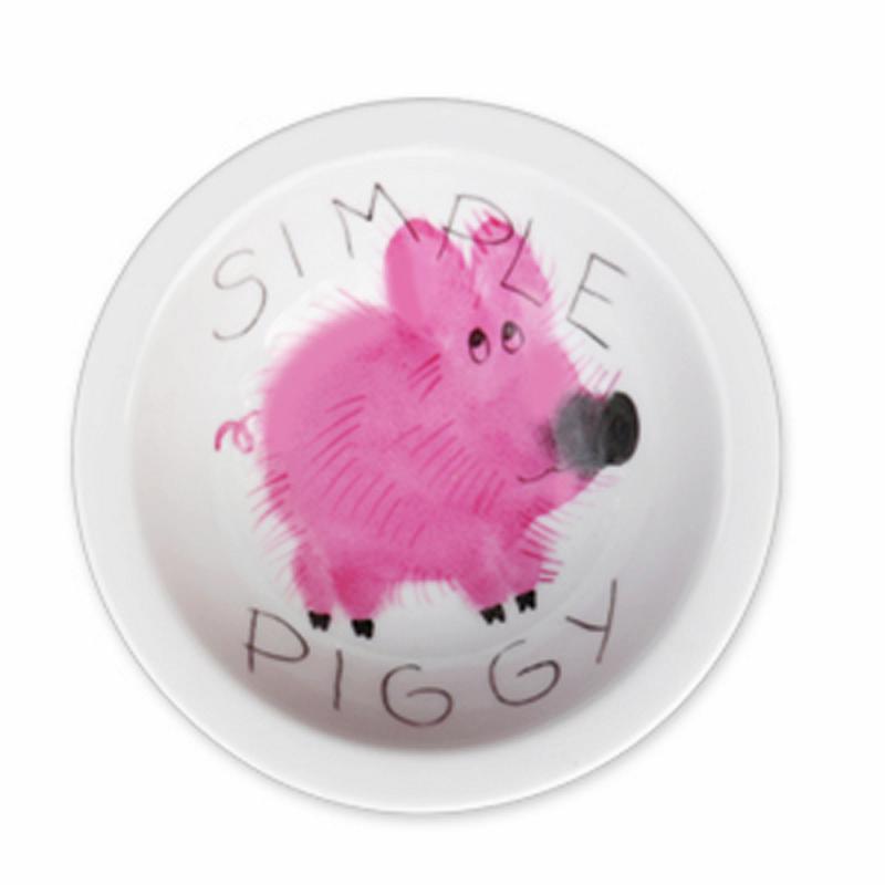 Simply Piggy Müsli-Schale Schwein Porzellan handbemalt