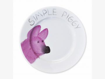 Simply Piggy Teller Schwein 19 cm Porzellan handbemalt