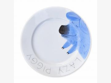Lazy Piggy Teller Schwein 19 cm Porzellan handbemalt