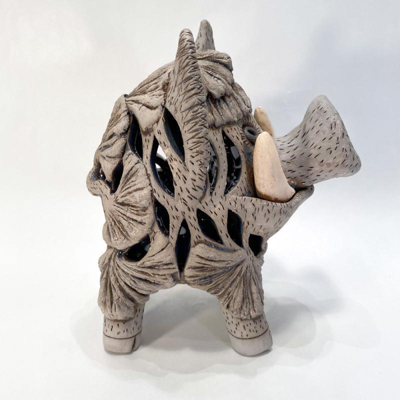 Wildschwein Windlicht dunkel