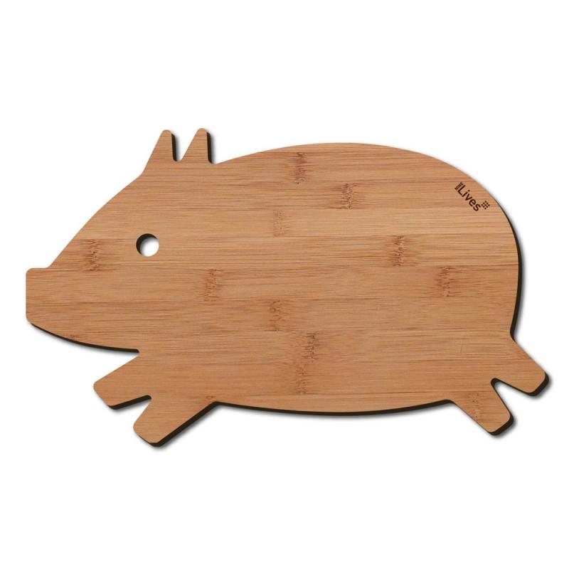 Frühstücksbrettchen Schwein Holz Birke