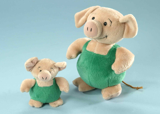 Ferkel Wutz mit Hut Plüsch Schwein 12 cm
