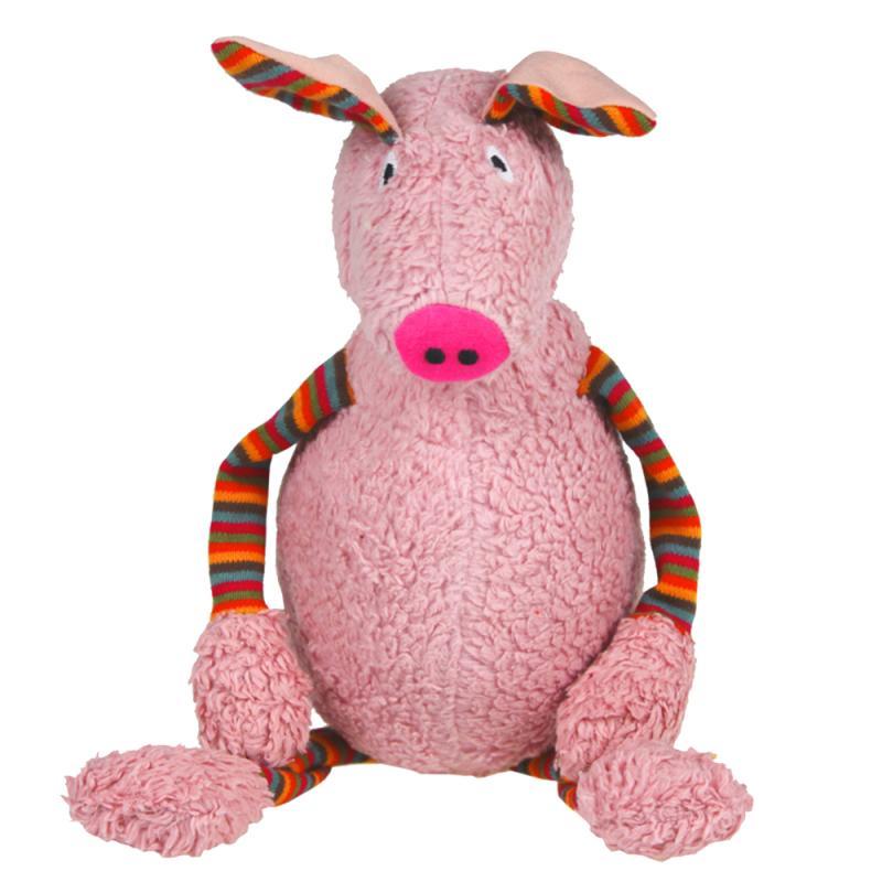 Schwein Borsten Thorsten Stofftier.46 cm ökologisches Spielzeug LANA natural wear