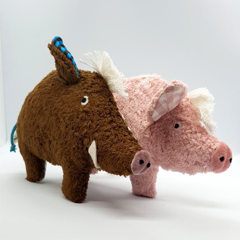 Baby-Rassel Schwein Pat & Patty