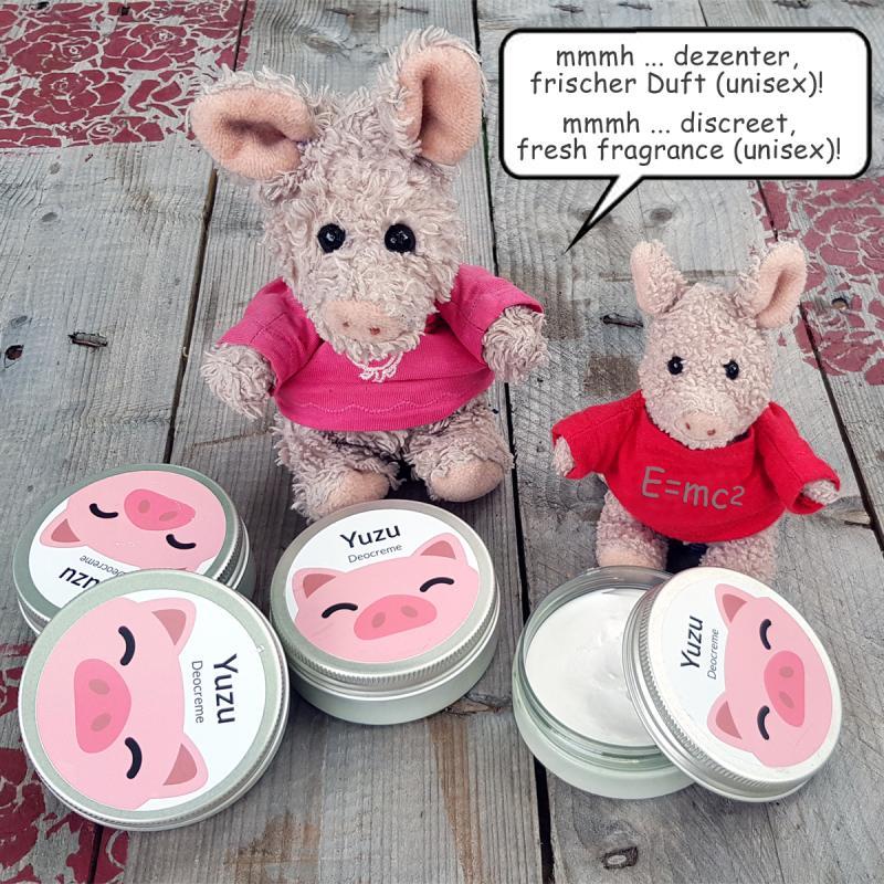 Deocreme EXTRA Yuzu 50g handgemacht Schweinchendose Deodorant