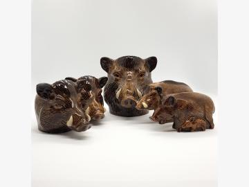 Frühstücks-Set 5-teilig Wildschwein feine Keramik Quail GB