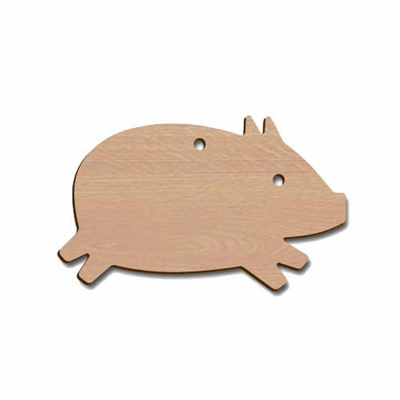 Holztier Schwein Aufhänger Buche 7cm