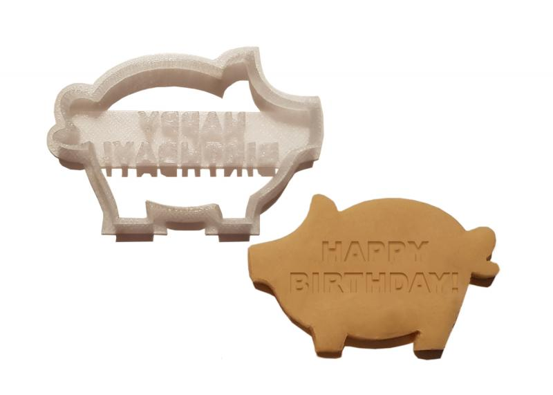 Keks Ausstechform Schwein HAPPY BIRTHDAY Plätzchen SCHWEINSWORLD