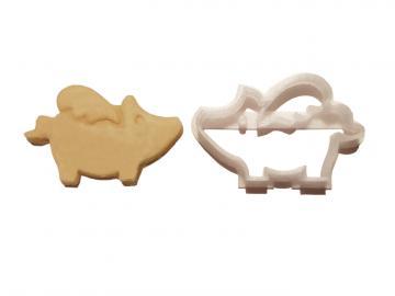 Keks Ausstechform Schwein Rosalie m. Flügelchen Plätzchen SCHWEINSWORLD