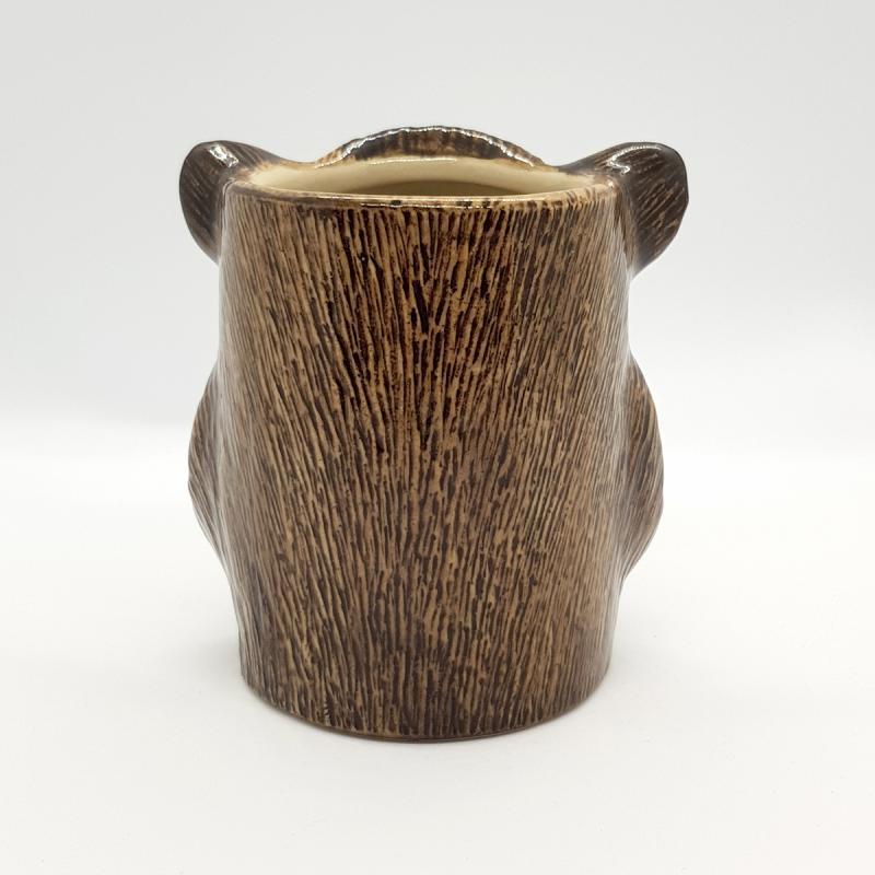 Multifunktions-Pot Wildschwein f. Stifte Pflanzen Kekse Tischmülleimer Schale Pot feine Keramik Quail GB