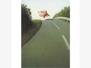 Postkarte Autobahnsau Michael Sowa