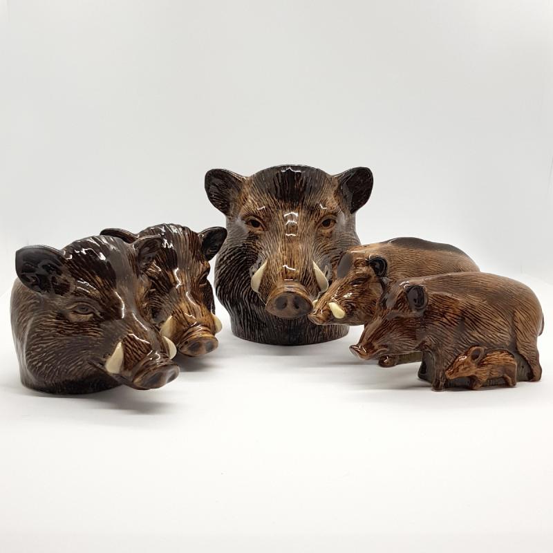 Salz- & Pfefferstreuer-Set Wildschweine feine Keramik Quail GB