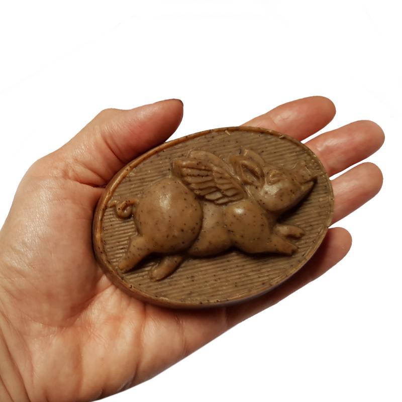 Seife Fliegendes Schweinchen Kaffee 150g* handgemacht