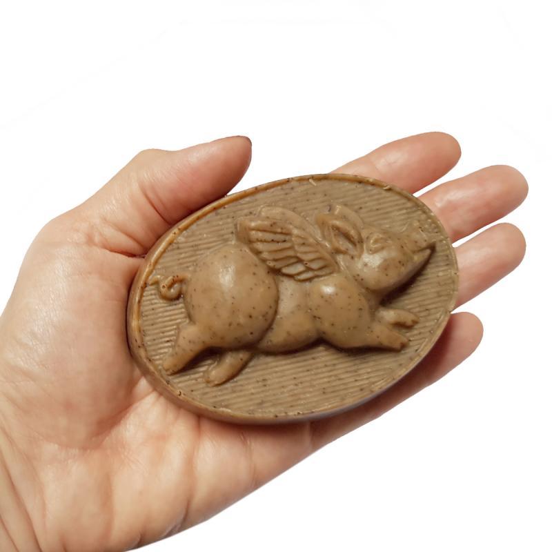 Seife Fliegendes Schweinchen Milchschaum 150g* handgemacht