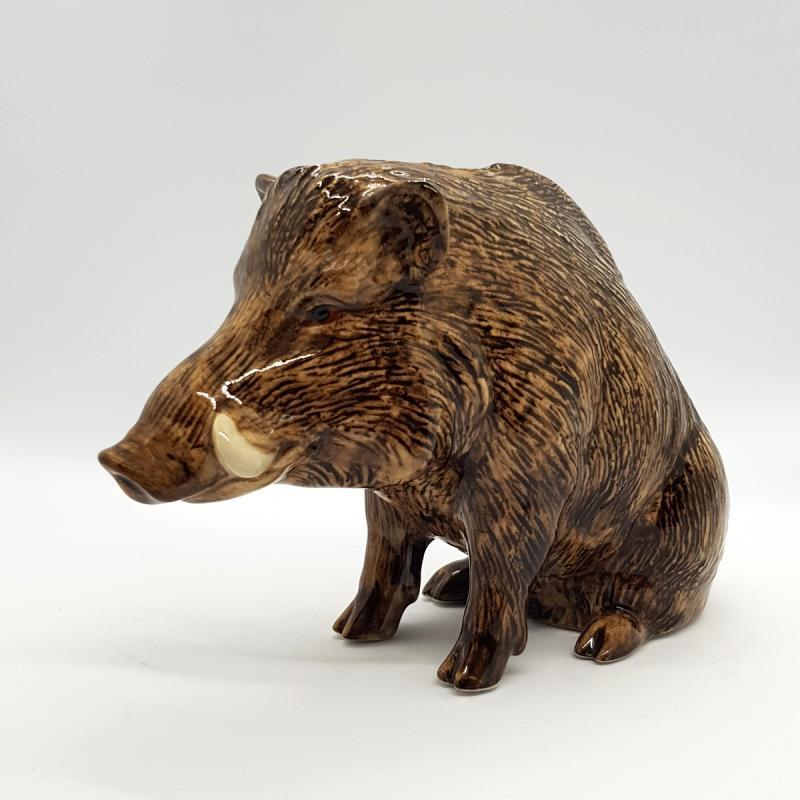 Sparschwein Wildschwein Spardose feine Keramik Quail GB